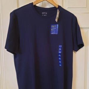 NWT APT.9 Men's Navy Blue Short Sleeve Size M